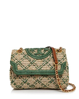 Tory Burch - Fleming Soft Straw Small Convertible Shoulder Bag
