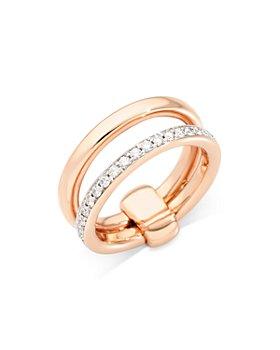 Pomellato - 18K Rose Gold Iconica Diamond Double Band Ring