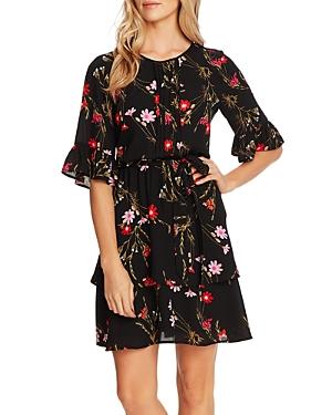 CeCe Enchanted Wildflower Pintucked Dress