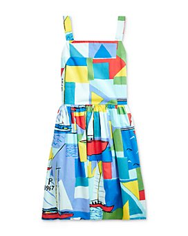Ralph Lauren - Girls' Cotton Sailboat-Print Dress - Big Kid
