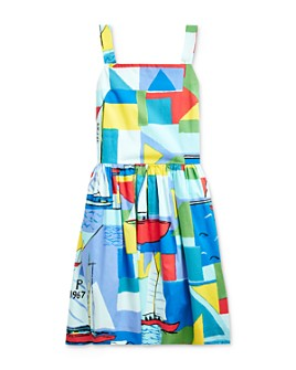 Ralph Lauren - Girls' Cotton Sailboat-Print Dress - Big Kid
