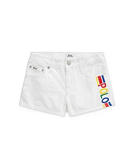 Ralph Lauren - Girls' Cotton Polo Denim Shorts - Big Kid