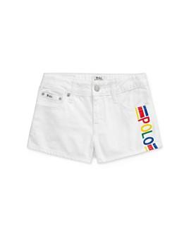 Ralph Lauren - Girls' Cotton Polo Denim Shorts - Big Kid