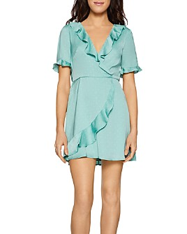 BCBGENERATION - Ruffled Polka-Dot Dress