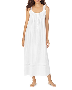 Cotton Dobby Striped Ballet Nightgown