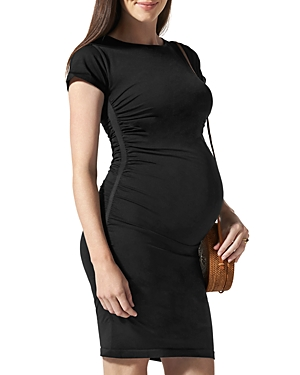 Everyday Maternity Cap-Sleeve Dress