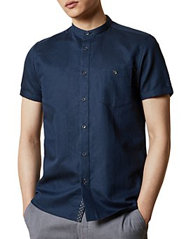 Ted Baker - Slim-Fit Band Collar Shirt