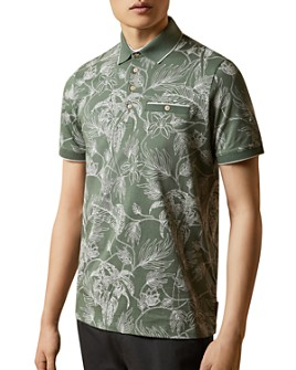 Ted Baker - Linear Floral Print Polo