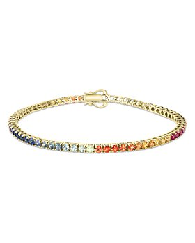 Bloomingdale's - Rainbow Sapphire Tennis Bracelet in 14K Yellow Gold - 100% Exclusive
