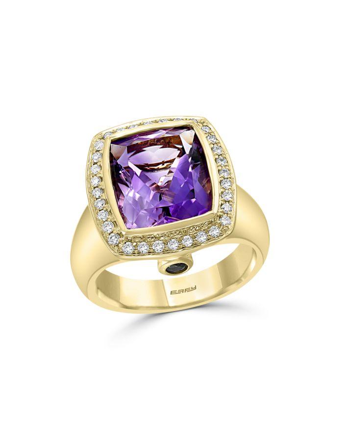 Bloomingdale's Amethyst & Diamond Statement Ring in 14K Yellow Gold - 100% Exclusive    Bloomingdale's