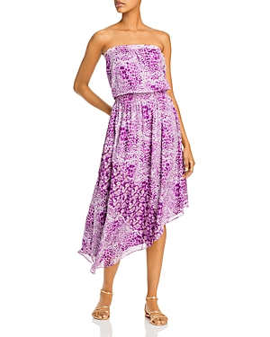 Ramy Brook Lainey Strapless Printed Blouson Dress-Women