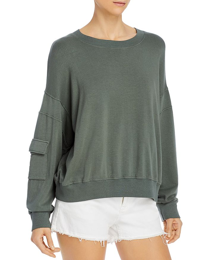 Monrow POCKETED-SLEEVE SWEATSHIRT