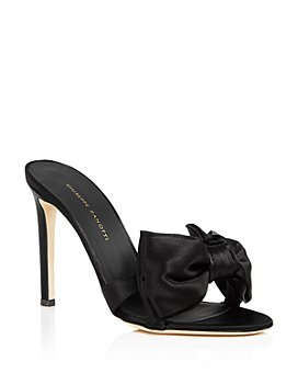 Giuseppe Zanotti - Women's Large Bow High-Heel Slide Sandals