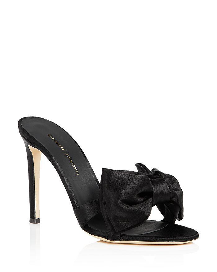 Giuseppe Zanotti - Women's Large Bow High-Heel Slide Sandals