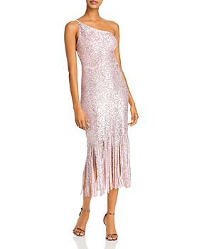 AQUA - Sequined Fringed-Hem Gown - 100% Exclusive