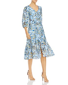 nanette Nanette Lepore - Floral-Print Button-Front Dress