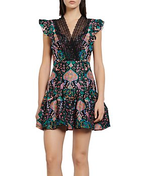 Sandro - Iveane Floral-Print Mini Dress