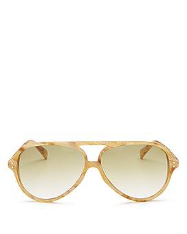 CELINE - Men's Brow Bar Aviator Sunglasses, 61mm