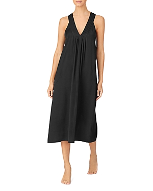 Dkny Pleated Long Chemise Nightgown