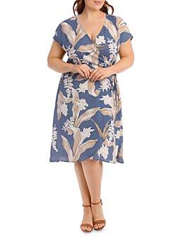 Estelle Plus - Amelia Printed Fit-and-Flare Dress