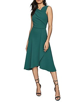 REISS - Marling Wrap-Front Midi Dress
