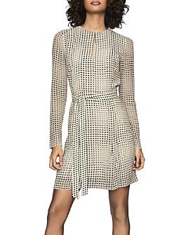 REISS - Elissa Spot Printed Flippy Dress