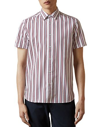 Ted Baker - MMA Baloom Striped Short Sleeve Button Down Shirt - 100% Exclusive