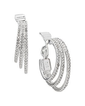 Ralph Lauren - Pavé Triple-Row Clip-On Hoop Earrings