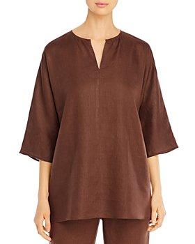 Eileen Fisher - Organic Linen Split-Neck Tunic