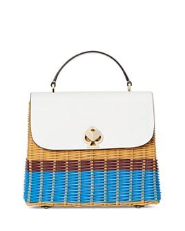 kate spade new york - Romy Wicker Medium Top Handle Bag