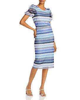 AQUA - Crochet Puff-Sleeve Top & Midi Skirt - 100% Exclusive