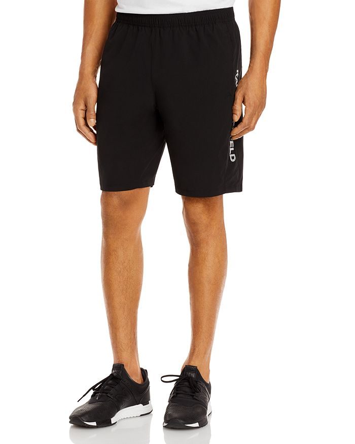 KARL LAGERFELD PARIS - Perforated-Side Active Shorts
