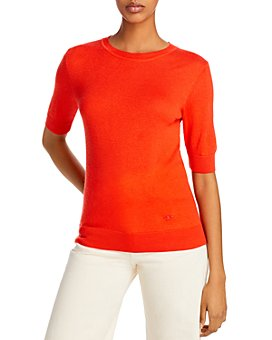 Tory Burch - Short-Sleeve Iberia Cashmere Sweater
