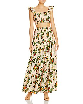 Significant Other - Lily Printed Cropped Top & Maxi Skirt