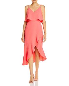 AQUA - Asymmetric Ruffle Dress - 100% Exclusive