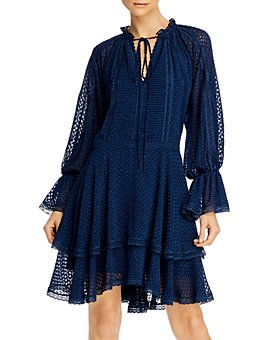 Alice and Olivia - Joanne Tiered Handkerchief Dress