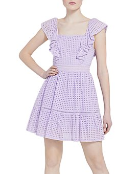 Alice and Olivia - Remada Eyelet Ruffle Mini Dress