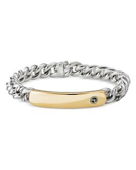 David Yurman - Belmont Curb Link ID Bracelet with 18K Yellow Gold