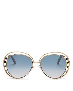 Chloé - Women's Delilah Double Rimmed Aviator Sunglasses, 57mm