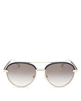 Salvatore Ferragamo - Women's Brow Bar Round Sunglasses, 59mm
