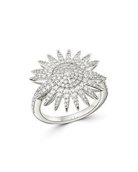Bloomingdale's - Diamond Starburst Statement Ring in 14k White Gold, 1 ct. t.w. - 100% Exclusive