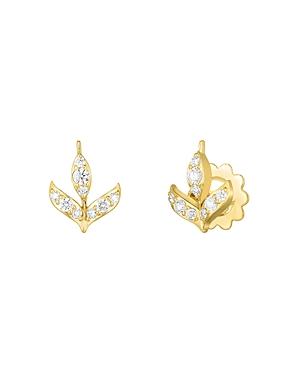 Roberto Coin 18K Yellow Gold Disney Frozen 2 Diamond Stud Earrings-Jewelry & Accessories