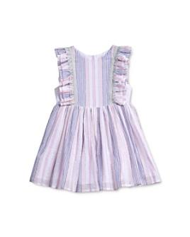Pippa & Julie - Girls' Striped Ruffled Dress - Little Kid, Big Kid