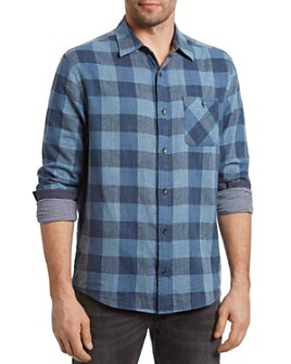 Flag & Anthem - Delphi Cotton Heathered Plaid Slim Fit Button-Up Shirt