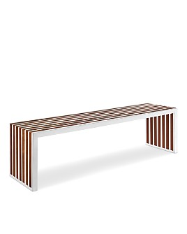 Modway - Gridiron Large Wood Inlay Bench