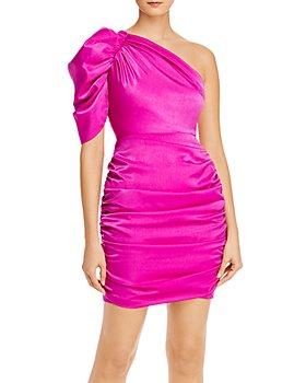 Aidan by Aidan Mattox - Ruched One-Shoulder Dress
