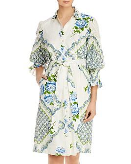 Tory Burch - Printed Cotton Shirt Dress