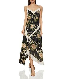 BCBGMAXAZRIA - Garden Floral Handkerchief Dress