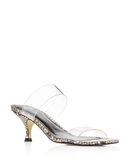 Marc Fisher LTD. - Women's Guadia 2 Snake-Embossed Mid-Heel Sandals