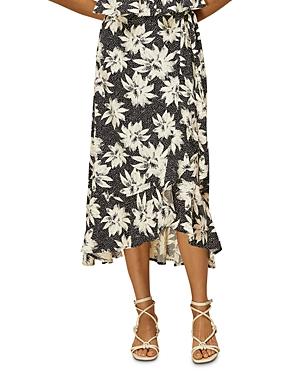 Whistles Starburst Floral Wrap Skirt-Women